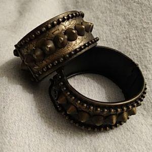 Pair Kirks Folly Spike Cuff Bracelets